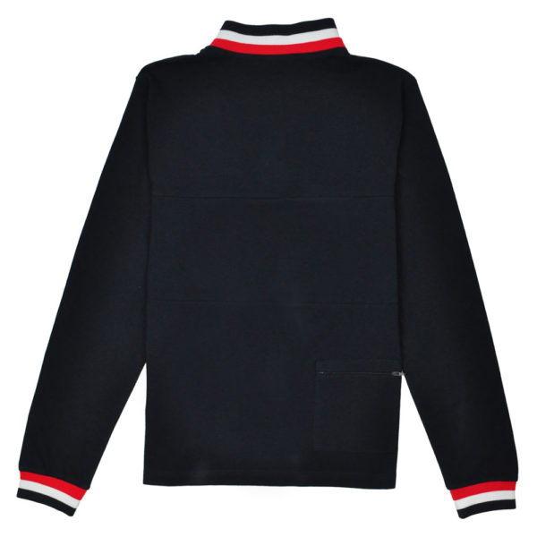 Reynolds 531 Tipped Collar Jumper Navy
